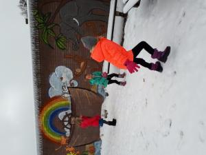 Pandagroep: sneeuw